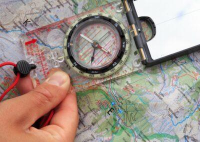 navigeren in de bergen